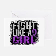 Licensed Fight Like a Girl 31.8 Epil Greeting Card