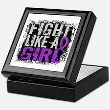 Licensed Fight Like a Girl 31.8 Epile Keepsake Box