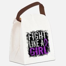 Licensed Fight Like a Girl 31.8 E Canvas Lunch Bag