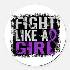 Licensed Fight Like a Girl 31.8 E Round Car Magnet