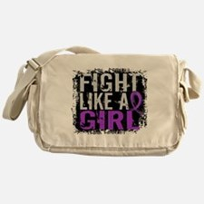 Licensed Fight Like a Girl 31.8 Epil Messenger Bag