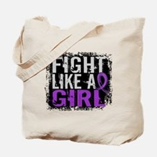 Licensed Fight Like a Girl 31.8 Epilepsy Tote Bag