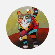 New Cat-of-Many-Color Ornament (Round)