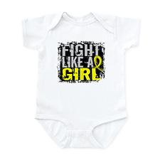 Licensed Fight Like a Girl 31.8 En Infant Bodysuit