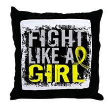 Licensed Fight Like a Girl 31.8 Endom Throw Pillow