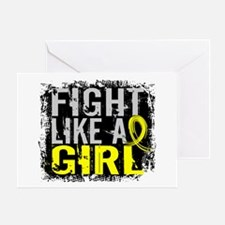 Licensed Fight Like a Girl 31.8 Endo Greeting Card