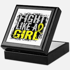 Licensed Fight Like a Girl 31.8 Endom Keepsake Box
