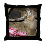 Chipmunk With Present Throw Pillow