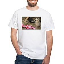 Chipmunk With Present White T-Shirt