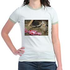 Chipmunk With Present Jr. Ringer T-Shirt