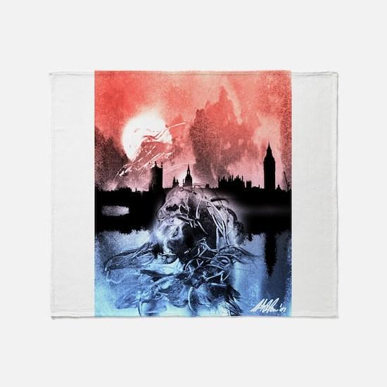 Shoggoths of London Throw Blanket