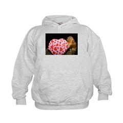 Tamarin With Valentines Gift Kids Hoodie