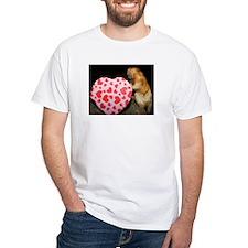 Tamarin With Heart Present White T-Shirt