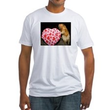 Tamarin With Heart Present Fitted T-Shirt