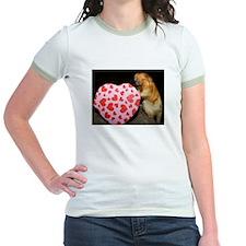 Tamarin With Heart Present Jr. Ringer T-Shirt