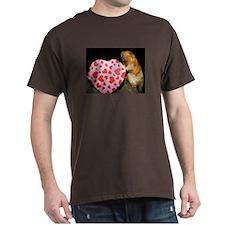 Tamarin With Heart Present Dark T-Shirt