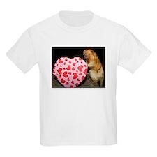 Tamarin With Heart Present Kids Light T-Shirt