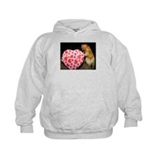 Tamarin With Heart Present Kids Hoodie