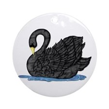 Black Swan Ornament (Round)