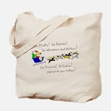 Doggy Claus & Kitty Reindeer Tote Bag