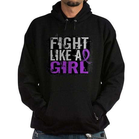 Licensed Fight Like a Girl 31.8 Cyst Hoodie (dark)