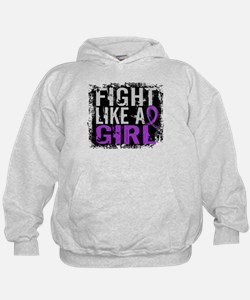 Licensed Fight Like a Girl 31.8 Cystic Hoodie