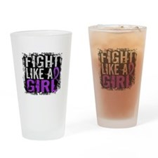 Licensed Fight Like a Girl 31.8 Cys Drinking Glass