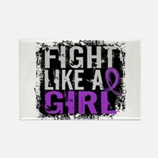 Licensed Fight Like a Girl 31.8 C Rectangle Magnet