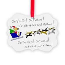 Doggy Claus & Kitty Reindeer Ornament