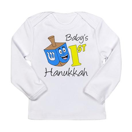 Babys First Hanukkah Long Sleeve Infant T-Shirt