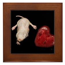 Naked Mole Rat With Heart Framed Tile