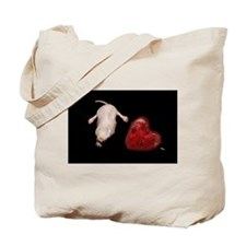 Naked Mole Rat With Heart Tote Bag