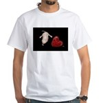 Naked Mole Rat With Heart White T-Shirt