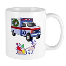 EMT Paramedic Holiday Greetings Mug