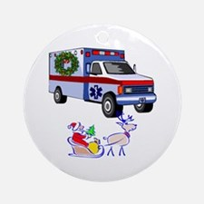 EMT Paramedic Holiday Greetings Ornament (Round)