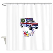 EMT Paramedic Holiday Greetings Shower Curtain