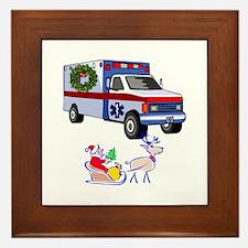 EMT Paramedic Holiday Greetings Framed Tile