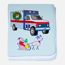 EMT Paramedic Holiday Greetings baby blanket