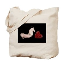 Two Naked Mole Rats with Heart Tote Bag