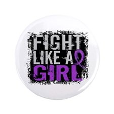 """Licensed Fight Like a Girl 31.8 Crohn' 3.5"""" Button"""