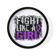 Licensed Fight Like a Girl 31.8 Crohn's Wall Clock