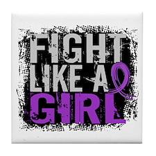 Licensed Fight Like a Girl 31.8 Crohn Tile Coaster