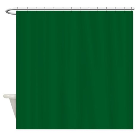 Green Dark Solid Shower Curtain By Laurie77