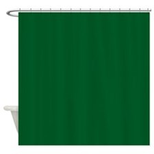 Green Dark Solid Shower Curtain
