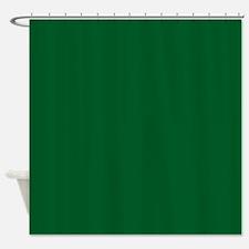 Green Dark Solid Shower Curtain