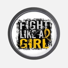 Licensed Fight Like a Girl 31.8 Childho Wall Clock