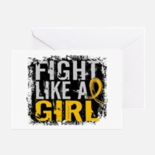 Licensed Fight Like a Girl 31.8 Chil Greeting Card