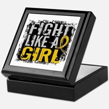 Licensed Fight Like a Girl 31.8 Child Keepsake Box