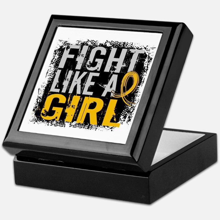 Licensed Fight Like a Girl 31.8 Child Keepsake Box