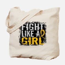 Licensed Fight Like a Girl 31.8 Childhood Tote Bag